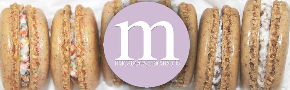 macabees macarons bakery logo